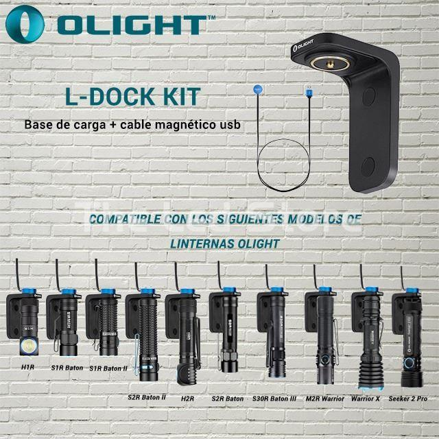 Cargador Olight L-Dock kit base de carga + cable usb - Imagen 2