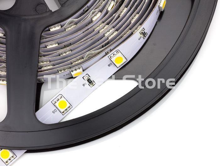 Tira Led 5 M Blanco Calido. 3000K 300 Led SMD5050 (60xMetro). IP20 24V - Imagen 1
